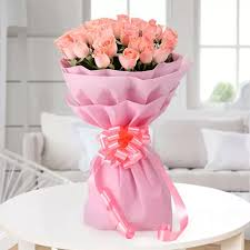 Good Luck Plant Delivery Hyderabad India Pink Roses Bunch